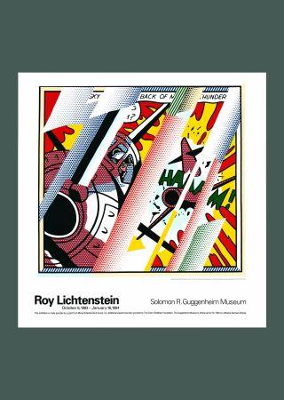 Litografia Lichtenstein - Roy Lichtenstein 'Reflections: Whaam!' 1993 Original Pop Art Poster