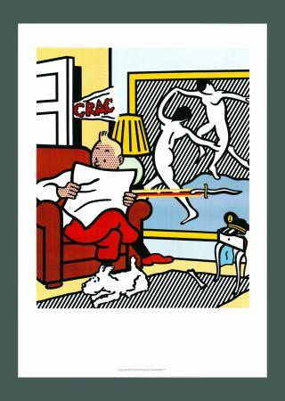 Litografia Lichtenstein - Roy Lichtenstein 'Tintin Reading' 1994 Original Pop Art Poster