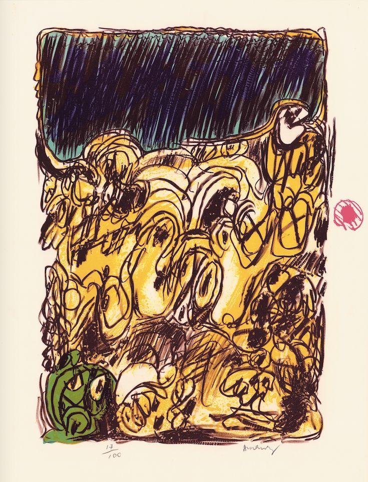 Litografia Alechinsky - Ruée