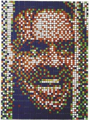 Serigrafia Space Invader - Rubik Kubrick II