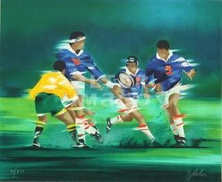Litografia Spahn - Rugby
