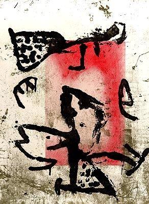 Incisione Miró - Rupestres