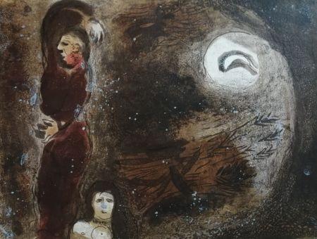 Litografia Chagall - Ruth aux pieds de Booz