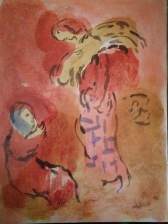 Litografia Chagall - Ruth glaneuse