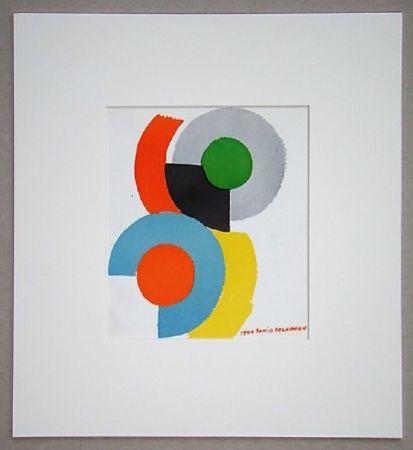 Litografia Delaunay - Rythmes circulaires, 1949