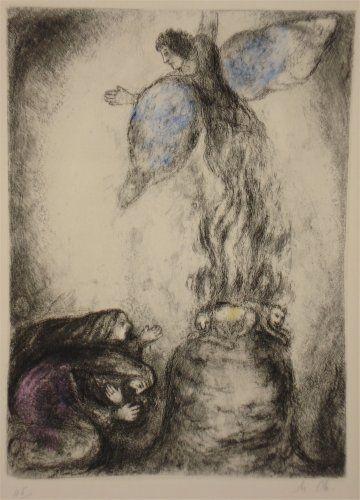 Acquaforte Chagall - Sacrifice de Manoach