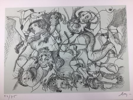 Acquaforte Baj - Sade in Italy - complete folder ( 8 erotic etchings )