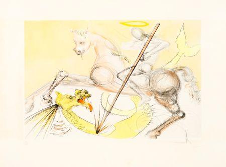 Acquaforte Dali - Saint Georges et le Dragon