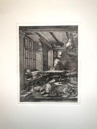 Incisione Durer - Saint Jeronimus