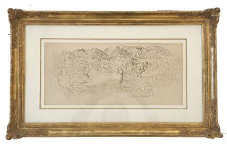 Non Tecnico Dufy - Saint Paul de Vence (c. 1925)