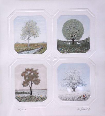 Acquaforte Hauck - Saisons des Arbres - Season Trees