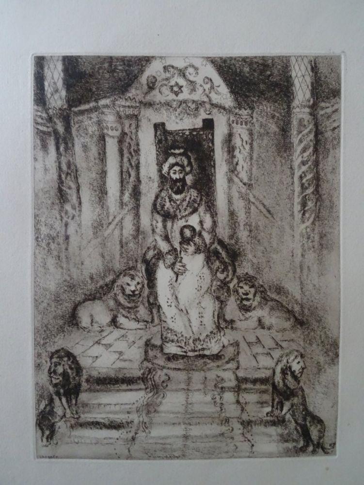 Acquaforte Chagall - Salomon sur son throne