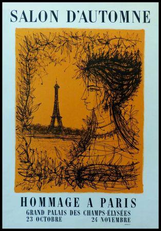 Manifesti Carzou - SALON D'AUTOMNE HOMMAGE À PARIS