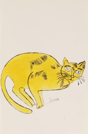 Litografia Warhol - Sam (From 25 Cats named Sam and one blue Pussy, FS IV. 67A.)