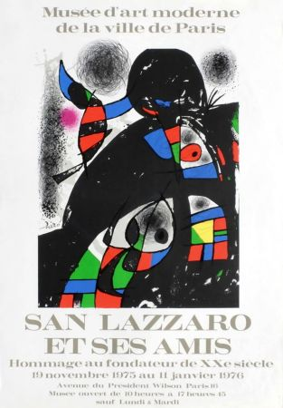 Manifesti Miró - SAN LAZZARO ET SES AMIS. Hommage. Affiche originale .1975.