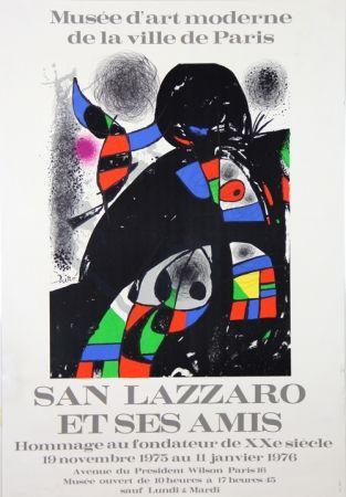 Litografia Miró - Sans Lazzaro et ses Amis