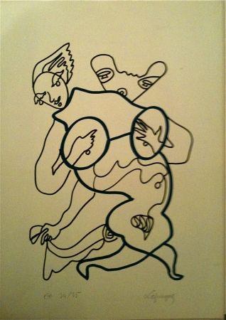 Litografia Lapicque - Sans Titre