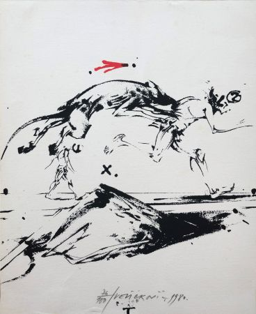 Litografia Velickovic - Sans titre