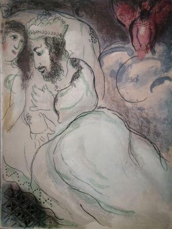 Litografia Chagall - Sara et Abimeli