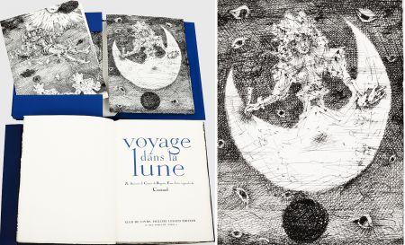 Libro Illustrato Coutaud - Savinien CYRANO DE BERGERAC : VOYAGE DANS LA LUNE. Eaux-fortes originales de Coutaud.