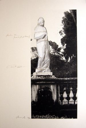 Litografia Christo - Schweiz Verpackte Venus-Villa Borghese