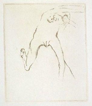 Incisione Beuys - Schwurhand: Frau rennt weg mit Gehirn