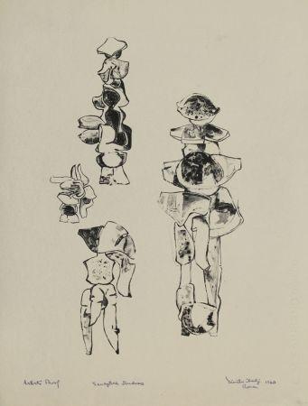 Litografia Hadzi - Sculpture Studies