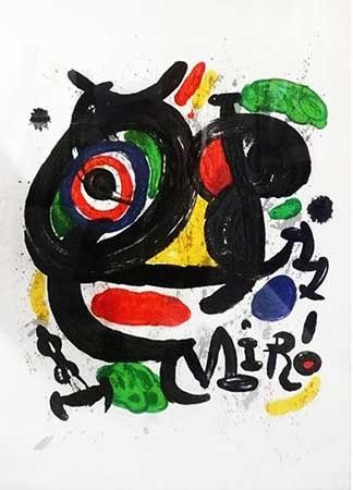 Litografia Miró - Sculptures