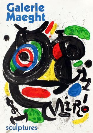 Manifesti Miró - SCULPTURES . Exposition Galerie Maeght, 1970. Affiche originale.