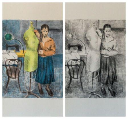 Litografia Soyer - Seamstress 1 Portfolio