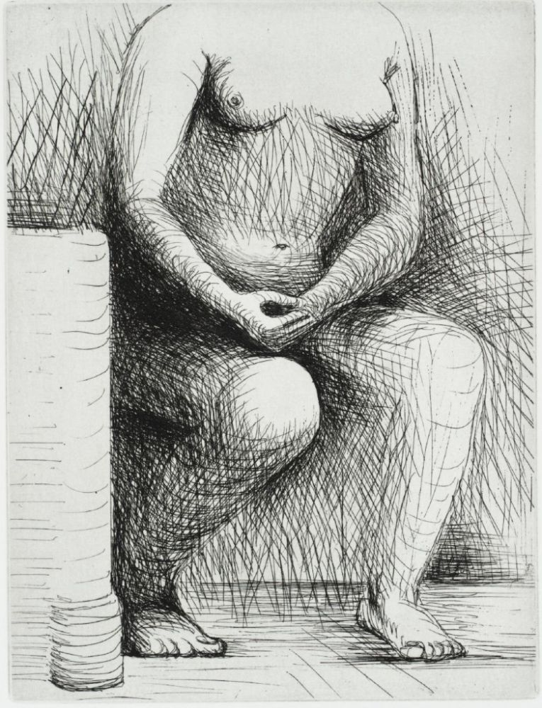 Incisione Moore - Seated Figure