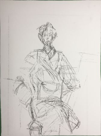 Litografia Giacometti - Seated Figure (Derrière le Miroir n°127. 1961. Deluxe)