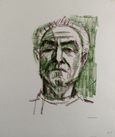 Litografia Bargheer - Selbstbildnis