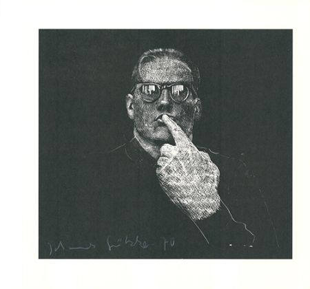 Linoincisione Grützke - Selbstportrait
