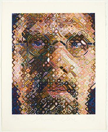 Incisione Su Legno Close - Self-Portrait Woodcut