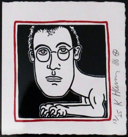 Serigrafia Haring - Self Portrait