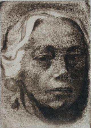 Incisione Kollwitz - Self Portrait