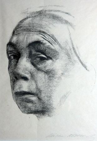 Litografia Kollwitz - Self Portrait