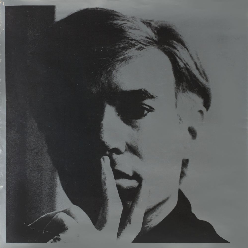 Litografia Warhol - Self Portrait by Andy Warhol is a lithograph on silver coated paper