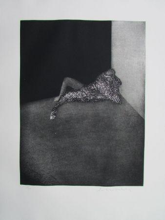 Incisione Scholder - Self Portrait In Barcelona