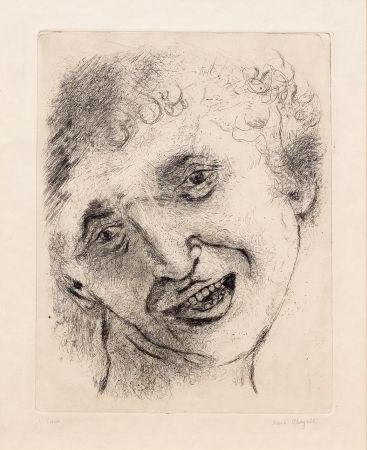 Incisione Chagall - Self Portrait with a Laughing Expression