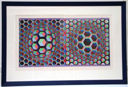 Litografia Vasarely - Semiha