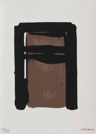 Serigrafia Soulages - Serigraphie No. 10 (From Sur Le Mur D'en Face)