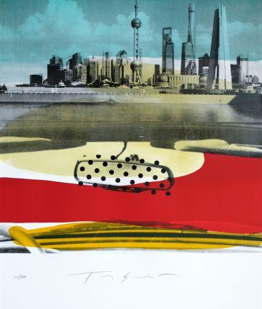 Litografia Soulie - Shanghai le Bund