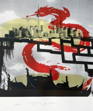 Litografia Soulie - Shanghai Le Dragon