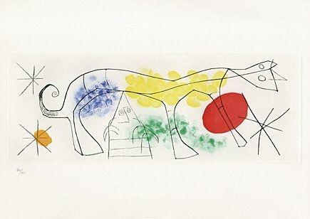 Acquaforte E Acquatinta Miró - Sheet 1 from
