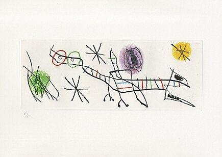 Acquaforte E Acquatinta Miró - Sheet 2 from