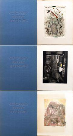 Acquaforte E Acquatinta Hasegawa - SHOICHI HASEGAWA - JAMES COIGNARD - MAX PAPART : HOMME DANS LA VILLE. 3 GRAVURES ORIGINALES