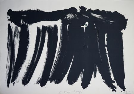 Litografia Debré - Signe paysage 1986