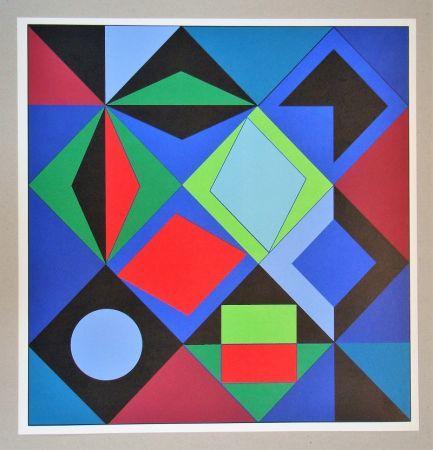 Serigrafia Vasarely - Sikra - 1966